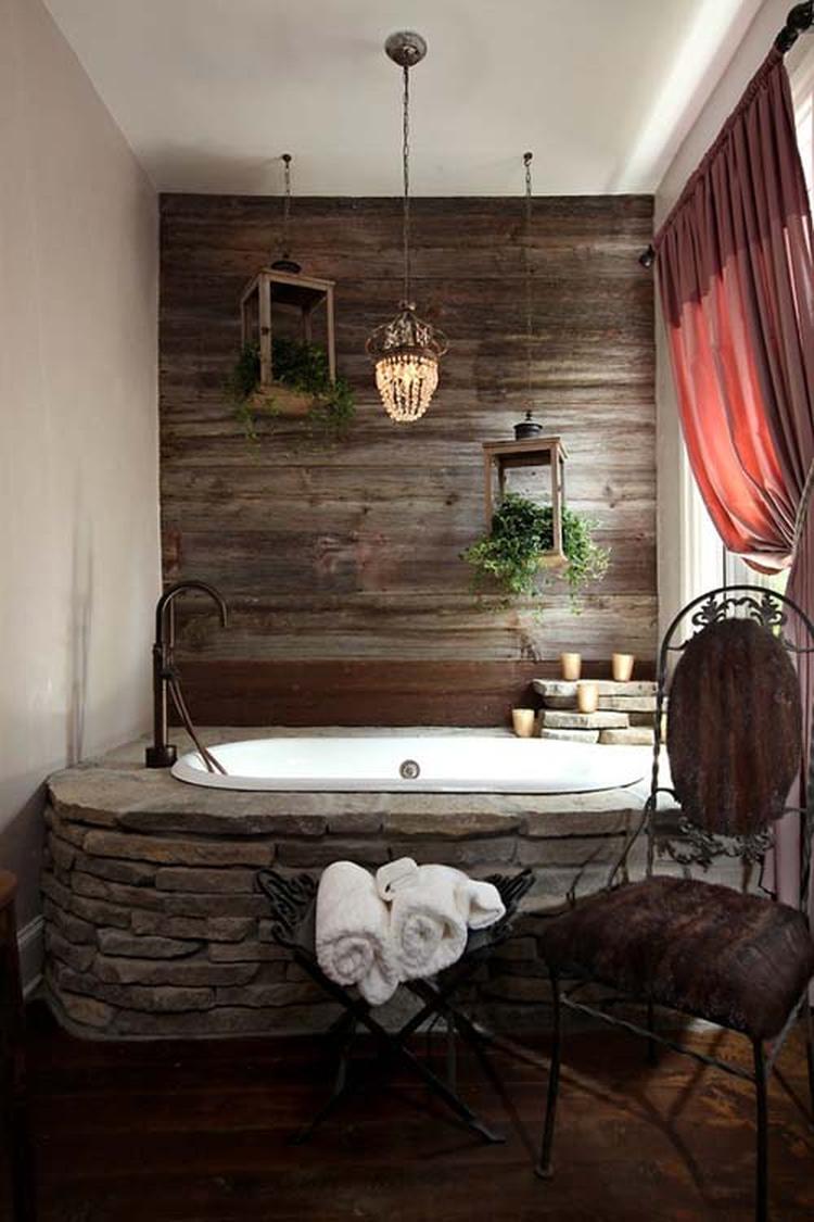 Badkamer hout en steen.. Foto geplaatst door johannaholleman op Welke.nl