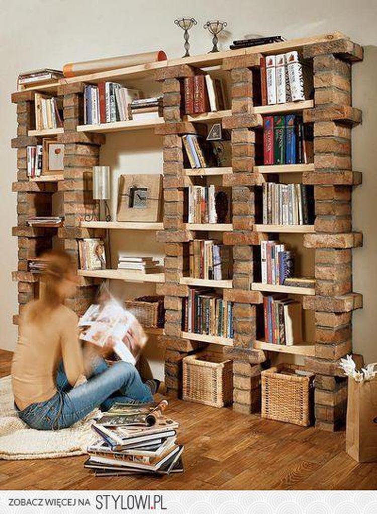 boekenkast van bakstenen diy