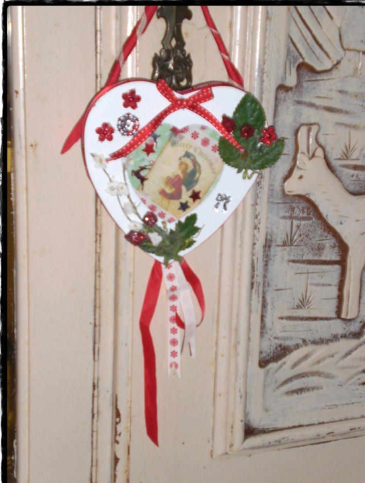 Een fotolijstje van de action ik heb er een kerst deurhanger van ...