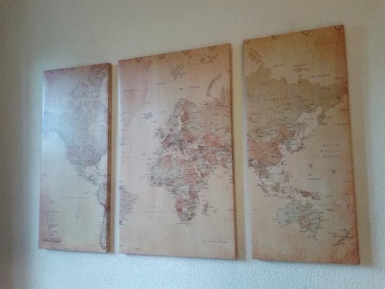 Populair Doe het zelf: Van een (oud) Canvas een wereldkaart maken waar je  @ZE11