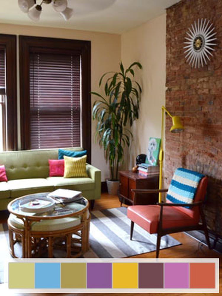 mooi kleuren palet voor retro woonkamer. Foto geplaatst door Sessa ...