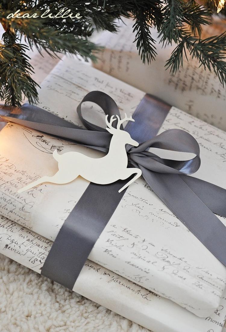 Leuk inpak idee met rendier voor kerstcadeautje . foto geplaatst ...