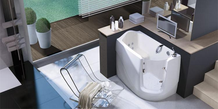 een instapbad is erg handig als je ruimte wil besparen in de, Badkamer