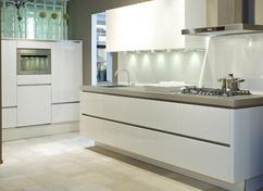 Greeploze Witte Keuken : Keukens greeploos wit hoogglans