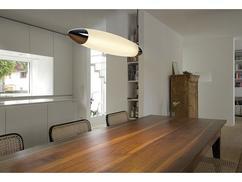 Geliefde industriele lamp boven eettafel gm belbin
