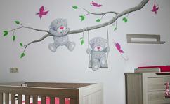 Babykamer Muurdecoratie Ideeen : Muurstickers babykamer mintgroen in kleur earlydew flexa