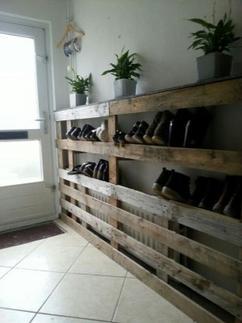 Rek Voor Schoenen.Handig Schoenen Rek Sloophout