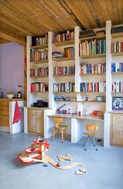 mooie boekenkast maar nog mooier als de horizontale