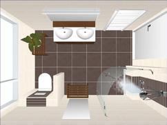 Voorbeelden Van Badkamers : Badkamers voorbeelden modern