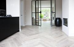 Woonkamer vloer ideeen verf idee woonkamer woonideeen woonkamer betonnen vloeren nl with - Grijze verf leisteen ...