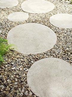 ronde stenen tuintegels