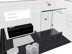Witte Badkamer Wandtegels : Losse tegels badkamer stunning kleine badkamer geen spulletjes