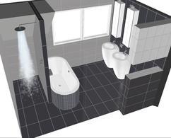 Inloopdouche Met Wastafels : Badkamer met bad en douche badkamer indeling ontwerp vrijstaand
