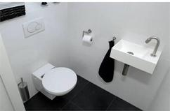 Moderne nieuwe toilet hoorn wc toiletruimte streker