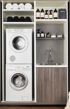 Wasmachine Kast Badkamer. Wasmachine Kast Badkamer Met Taupe With ...