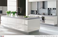 Moderne witte keuken in beste foto van nextline nl in dirksland