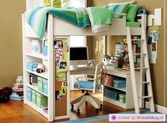 Halfhoogslaper Met Kast : Halfhoogslaper met kastruimte door bureau kast ikea meuble bureau