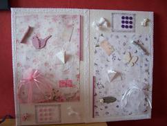 collage op canvasdoek stuk kanten gordijn van ikea