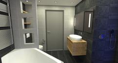Badkamer Kleuren Ideeen : Grijs witte badkamer voorbeelden inspiratie slimster