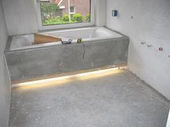 licht inbouwen onder bad