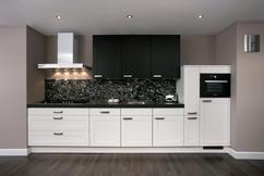 Zwart wit tegels keuken inspirerende gebruikelijke