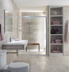 Badkamer en badkamermeubel: Landelijke badkamerkast met 2 ...