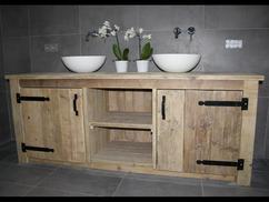 Badkamermeubel Van Steigerhout : Sfeervolle steigerhouten badkamermeubel steigermeubelsxl