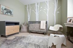Grote boom baby nursery decal enorme bomen met leafs custom kleur