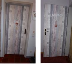 Saaie bruine deuren en kozijnen gepimpt Kozijnen geschilderd met verf.1416424853 van knutseltrutje - Akoestisch Behang Gamma