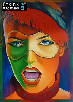 fd6780dbb8d2bf Kleurrijk schilderij. Groot modern <mark>portret</mark> schilderij.  Expressief