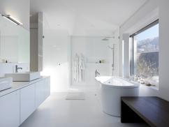 Badkamer Vrijstaand Bad : Lambrisering voor badkamer landelijke badkamer vrijstaand