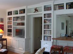 op maat gemaakte klassieke boekenkast die