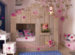 Kamer meisje jongen hysterische kinderkamers kids story bedroom