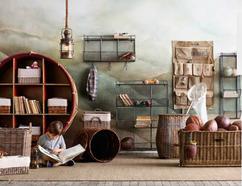 Kast Hout Staal : Kast staal boekenkast asmund van oud hout andagames