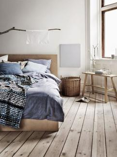 mooie natuurlijke slaapkamer