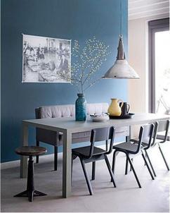 interieur een blauw
