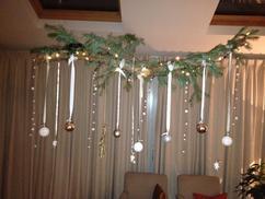 kersttakken boven salontafel
