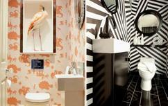 Behang Voor Toilet : Behangpapier in een modern interieur ideeën en voorbeelden