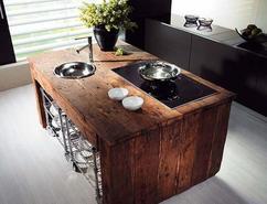 Hulzhout sloop houten keuken kast deurtjes