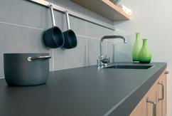 Populair witte keuken met wit composiet werkblad rz