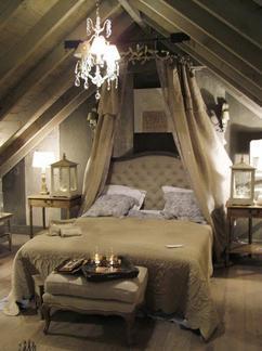 romantische gezellige slaapkamer