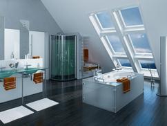 Badkamer Met Dakraam : Badkamer rolgordijn bc van design keukens en gamma badkamer
