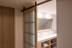 Heerlijk lovely badkamer ideeen inloopdouche met landelijke houten