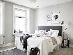scandinavische slaapkamer natuurlijke kleuren