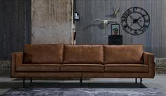 Grijs bruin sofa para slaapbank chaise mariager leer hindi bank