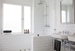 Muurtje in badkamer. trendy frisch muurtje in badkamer maken beste