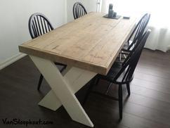 Mooie Steigerhouten Eettafel.De Leukste Ideeen Over Tafel Steigerhout Wit Onderstel Vind Je Op
