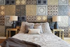 Slaapkamer Muur Kleuren : Huis interieur slaapkamer scandinavisch hout tafel slaapkamer
