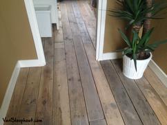 sloophouten vloer zeer strak gelegd mooie rustieke