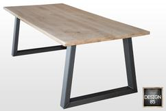 Tafel Stalen Poten : Industriële eettafel maken met stalen tafelpoten voordemakers